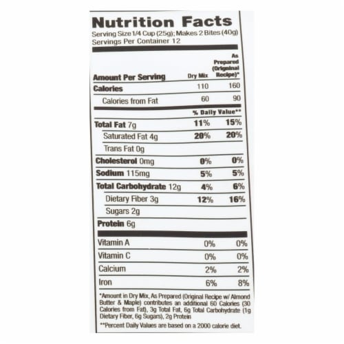 Creation Nation Oat Yes! Chocolate Chip Vegan Energy Bite Mix  - Case of 6 - 10.4 OZ Perspective: back