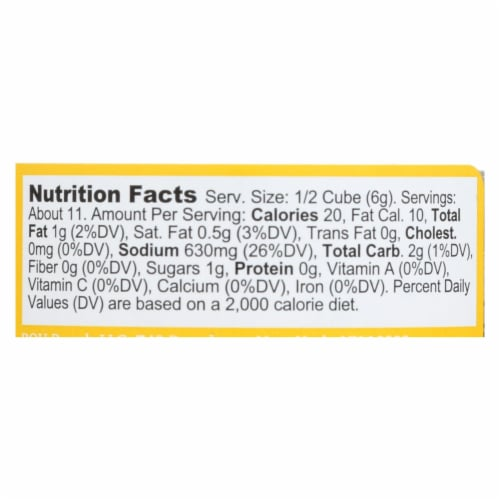 Bou - Bouillon Cube Chicken 6ct - CS of 6-2.53 OZ Perspective: back