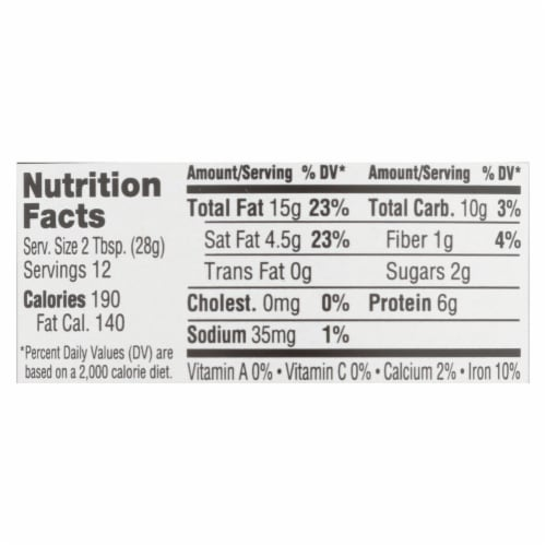 Abby's Better Nut Butter - Coconut Cashew Nut Butter - Case of 6 - 12 oz. Perspective: back
