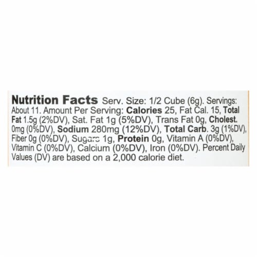 Bou - Gravy Cubes Chicken 6ct - CS of 6-2.53 OZ Perspective: back
