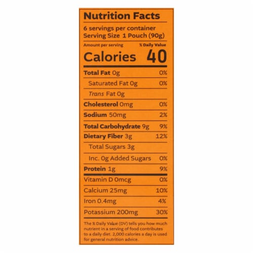 White Leaf Provisions - Baby Food Carrot Sweet Potato Pea - Case of 6 - 3.17 OZ Perspective: back