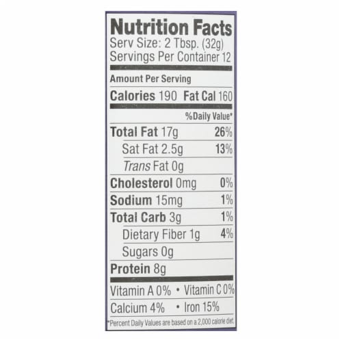 Artisana Butter - Raw Tahini - Case of 6 - 14 oz. Perspective: back