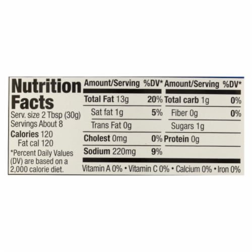 Daiya Foods - Dairy Free Salad Dressing - Blue Cheese - Case of 6 - 8.36 fl oz. Perspective: back