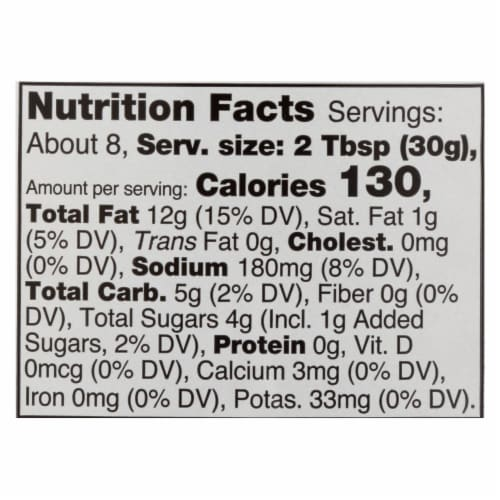 Daiya Foods - Dairy Free Salad Dressing - Honey Mustard - Case of 6 - 8.36 oz. Perspective: back