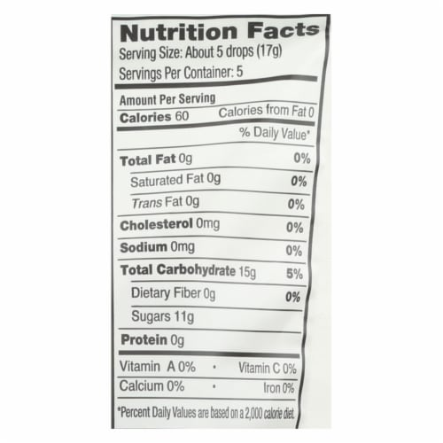 Yummy Earth Organic Candy Drops Freshest Fruit - 3.3 oz - Case of 6 Perspective: back