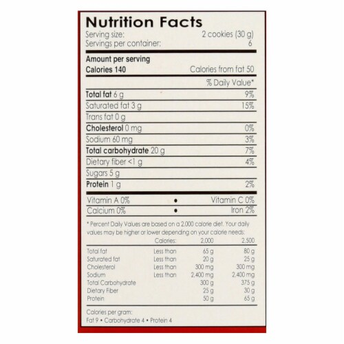 Andean Dream Gluten Free Quinoa Cookies Chocolate Chip - Case of 6 - 7 oz. Perspective: back