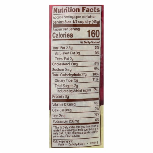 Nature's Earthly Choice Premium Quinoa - Case of 6 - 12 oz. Perspective: back