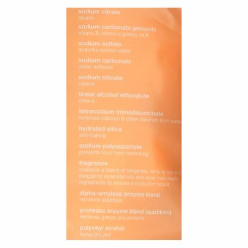 GrabGreen Tangerine & Lemongrass Dishwasher Detergent 24 Loads, 15.2 OZ (Pack of 6) Perspective: back