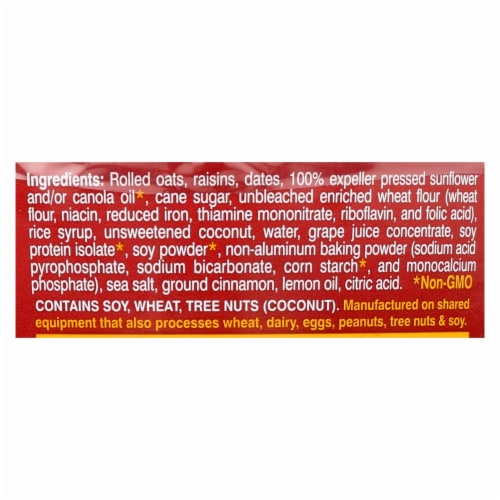 Lauras Wholesome Junk Food Cookies - Oatmeal Raisin - 7 oz - case of 6 Perspective: back