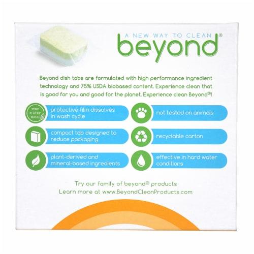 Beyond Natural Dishwasher Tablets - Fragrance & Dye Free - Case of 8 boxes Perspective: back