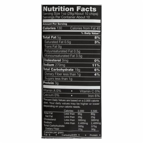 Stacy's Brand Organic Simply Naked Pita Chips  - Case of 10 - 10.25 OZ Perspective: back