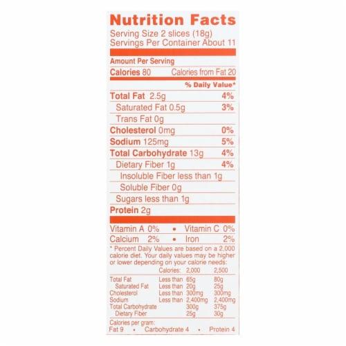 Wasa Sesame & Sea Salt Flatbread Thins  - Case of 10 - 6.7 OZ Perspective: back