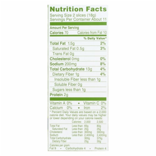 Wasa Rosemary & Salt Flatbread Thins - Case of 10 - 6.7 OZ Perspective: back