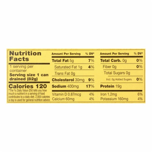 Reese Sardines - Skinless Boneless in Olive Oil - Case of 10 - 4.37 oz Perspective: back