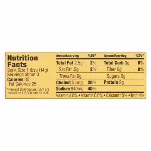 Reese Paste - Anchovy - Case of 10 - 1.6 oz Perspective: back
