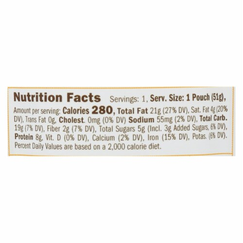 Yumbutter - Cashew Butter Superfood - Case of 10 - 1.8 OZ Perspective: back