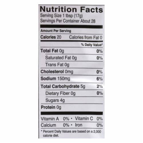 Fody Food Co. Ketchup - Case of 10 - 16.8 OZ Perspective: back