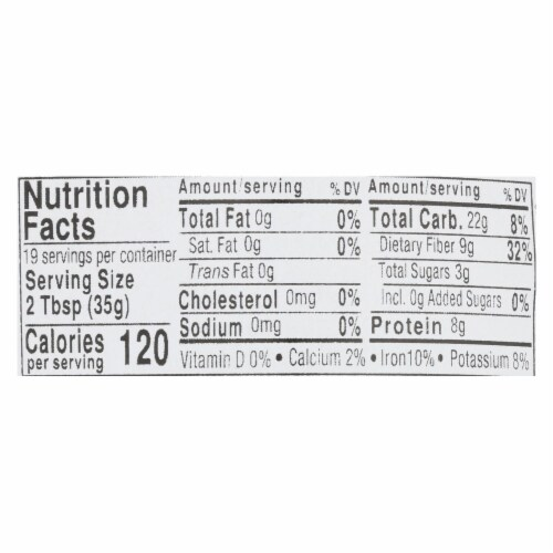 Aurora Natural Products - Organic Peas - Green Split - Case of 10 - 24 oz. Perspective: back
