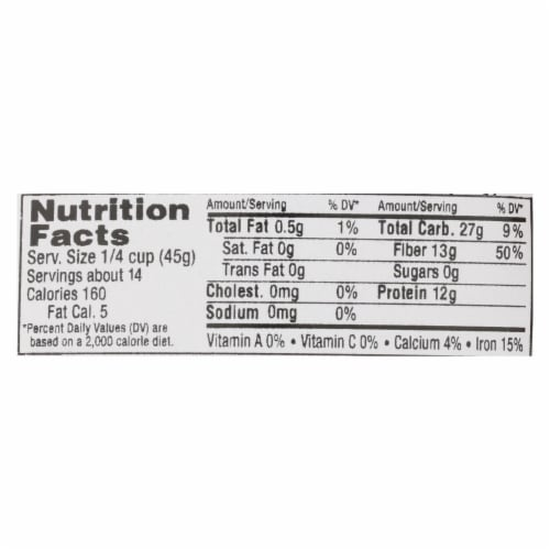 Aurora Natural Products - Organic Golden Lentils - Case of 10 - 22 oz. Perspective: back