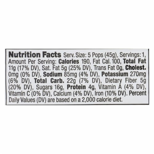 Made in Nature Chocolate Crunch Fig Pops, 1.6 Ounce -- 60 per case. Perspective: back