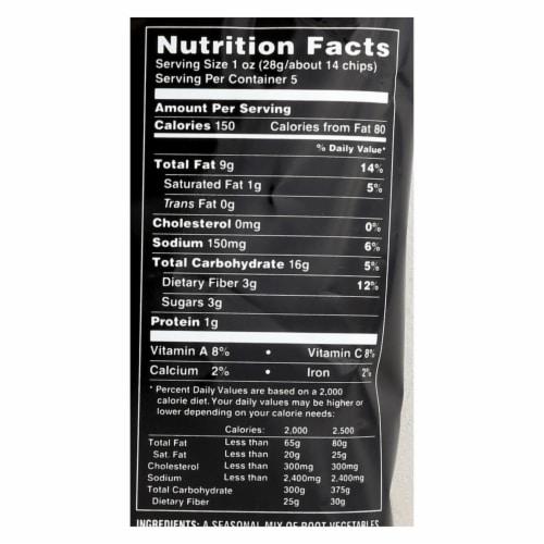 Terra Chips Exotic Vegetable Chips - Mediterranean - Case of 12 - 5 oz. Perspective: back