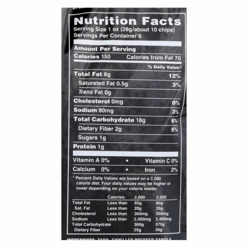 Terra Chips Chips - Exotic Vegetable - Taro - 6 oz - case of 12 Perspective: back