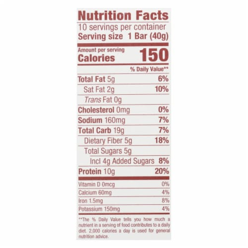Think Products thinkThin Bar - Lean Protein Fiber - Chocolate Almond - 1.41 oz - 1 Case Perspective: back