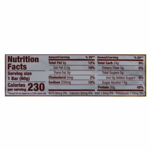 Think Products High Protein Bar - Lemon Delight - Case of 10 - 2.1 oz. Perspective: back