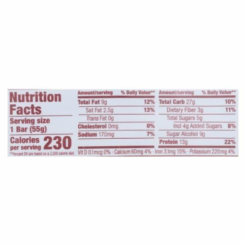 Think! Thin Plant Protein Bar - Sea Salt Almond Chocolate - Case of 10 - 1.94 oz Perspective: back