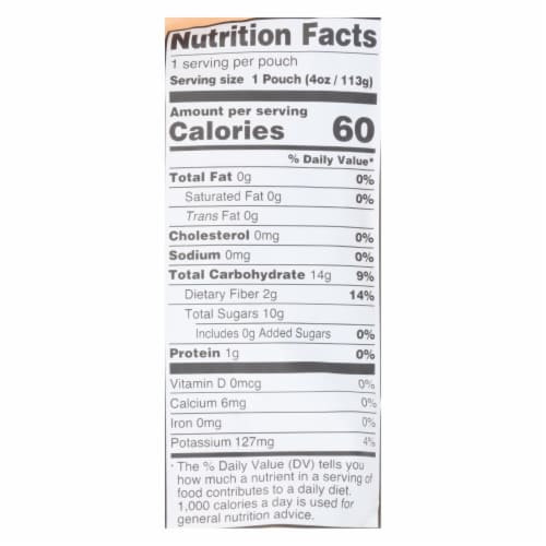 Peter Rabbit Organics Fruit Snacks - Peach and Apple - Case of 10 - 4 oz. Perspective: back
