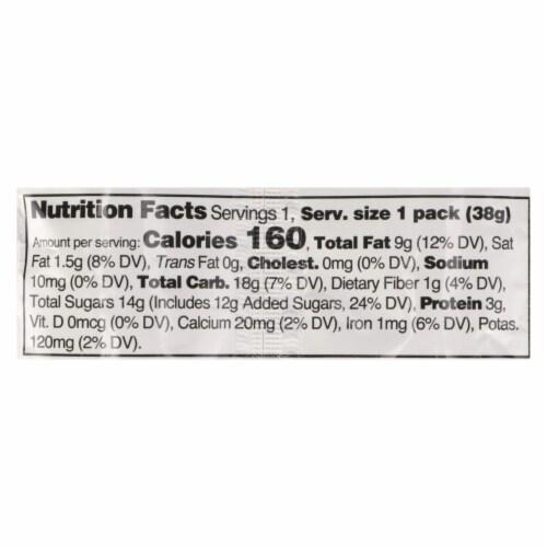 Split Nutrition - Cashew Butter & Sr Cherry - Case of 10 - 1.34 OZ Perspective: back