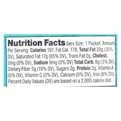 Artisana Organic Raw Coconut Butter - Squeeze Packs - 1.06 oz - Case of 10 Perspective: back