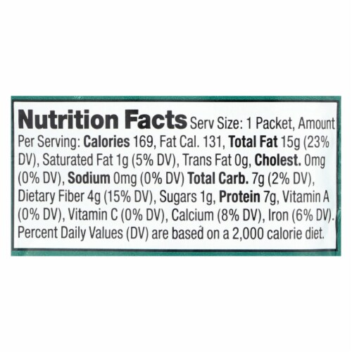 Artisana Organic Raw Almond Butter - Squeeze Packs - 1.06 oz - Case of 10 Perspective: back