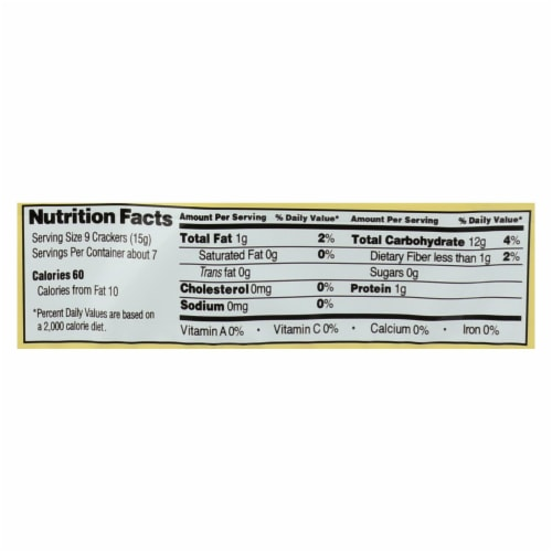 Edward and Sons Brown Rice Snaps - Unsalted Sesame - Case of 12 - 3.5 oz. Perspective: back