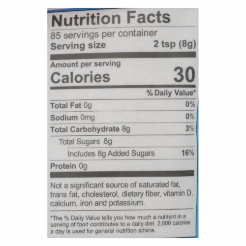 Wholesome Sweeteners Sugar - Organic - Turbinado - Raw Cane - 1.5 lb - case of 12 Perspective: back