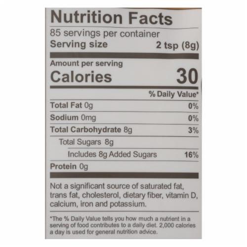 Wholesome Sweeteners Sugar - Natural Raw Cane - Turbinado - Fair Trade - 1.5 lb - case of 12 Perspective: back