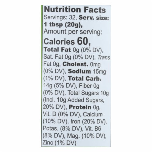 Wholesome Sweeteners Molasses - Organic - Blackstrap - Unsulphured - 16 oz - case of 12 Perspective: back