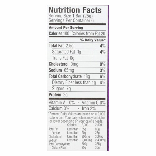 Annie's Homegrown Organic Chewy Granola Bars Chocolate Chip - Case of 12 - 5.34 oz. Perspective: back