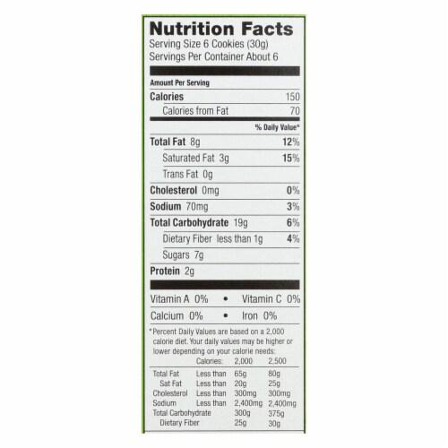 Annie's Homegrown Organic Cookie Bites, Lemon Drop  - Case of 12 - 6.5 OZ Perspective: back