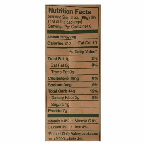 Montebello Organic Pasta - Farfalle - Case of 12 - 1 lb. Perspective: back