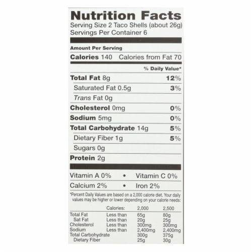 Garden of Eatin' Yellow Corn Taco Shells - Taco Shells - Case of 12 - 5.5 oz. Perspective: back
