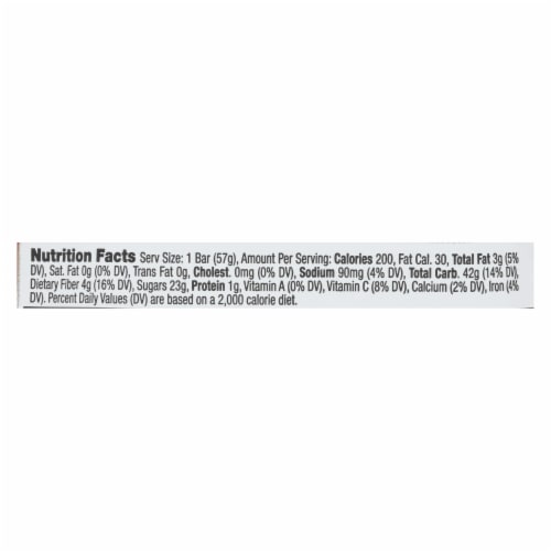 Betty Lou's Fruit Bar - Strawberry - Gluten Free - Case of 12 - 2 oz Perspective: back