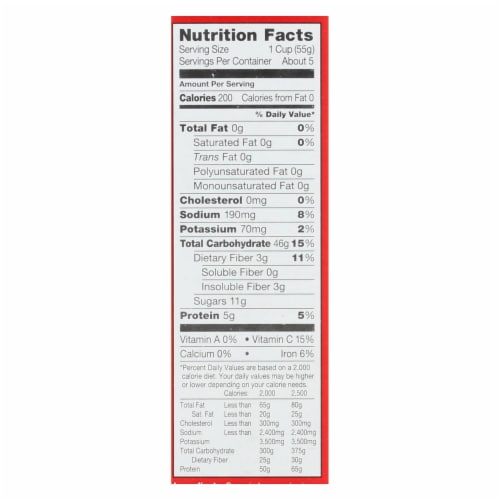 Kashi Cereal - Organic - Rice n Wheat - Org Promise - Strawberry Fields - 10.3oz - case of 12 Perspective: back
