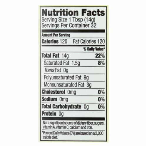 Spectrum Naturals Refined Grapeseed Oil - Case of 12 - 16 Fl oz. Perspective: back