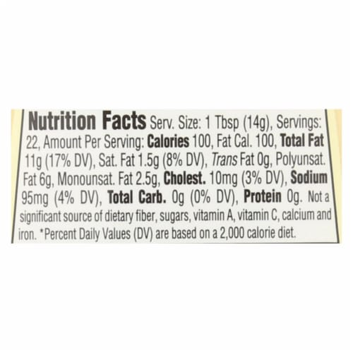 Spectrum Naturals Organic Mayonnaise with Cage Free Eggs - Case of 12 - 11.25 oz. Perspective: back