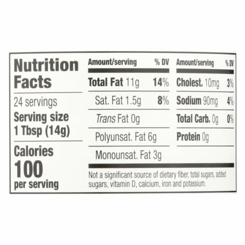 Spectrum Naturals Organic Olive Oil Mayonnaise - Case of 12 - 12 oz. Perspective: back