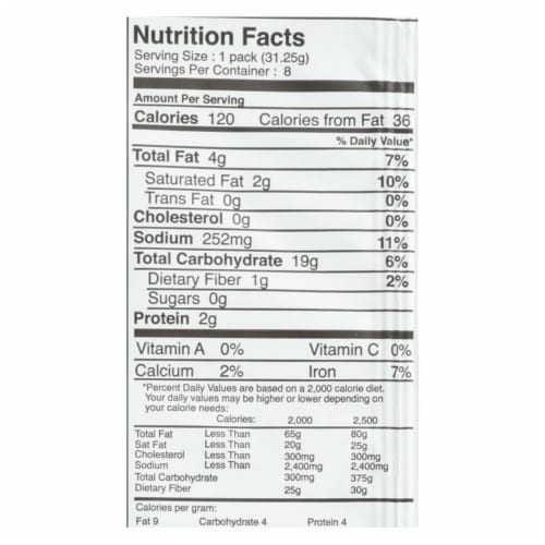 Suzie's Organic Saltines - Rosemary and Sesame - Case of 12 - 8.8 oz. Perspective: back