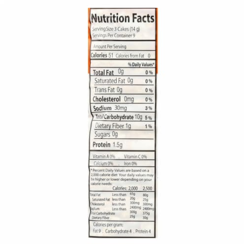 Suzie's, Thin Cakes Puffed Crackers, Buckwheat, Quinoa & Flax - Case of 12 - 4.6 OZ Perspective: back