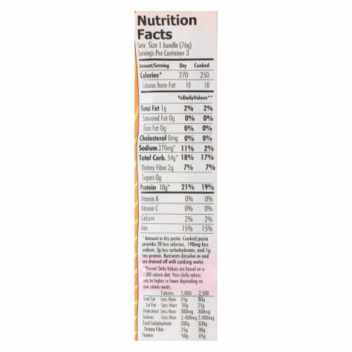 Organic Planet Traditional Whole Wheat Udon Oriental Noodles - Case of 12 - 8 oz. Perspective: back