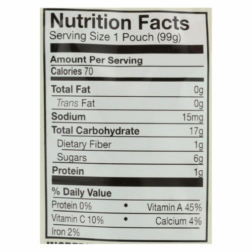 Earth's Best Organic Sweet Potato and Beets Baby Food Puree - Stage 2 - Case of 12 - 3.5 oz. Perspective: back